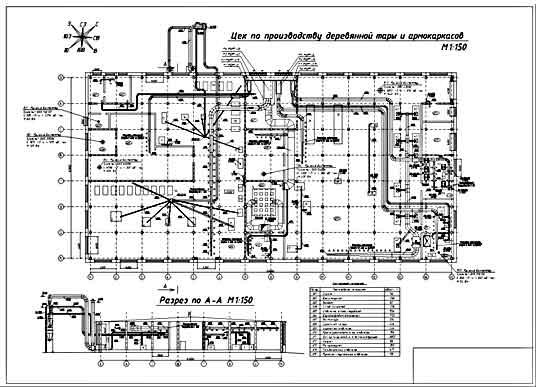 На чертежах показан план