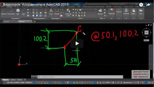 Координаты в AutoCAD 2017 (видеоурок)