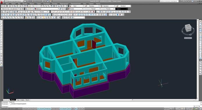 видео урок autoсad 3d моделирование лестницы без площадок